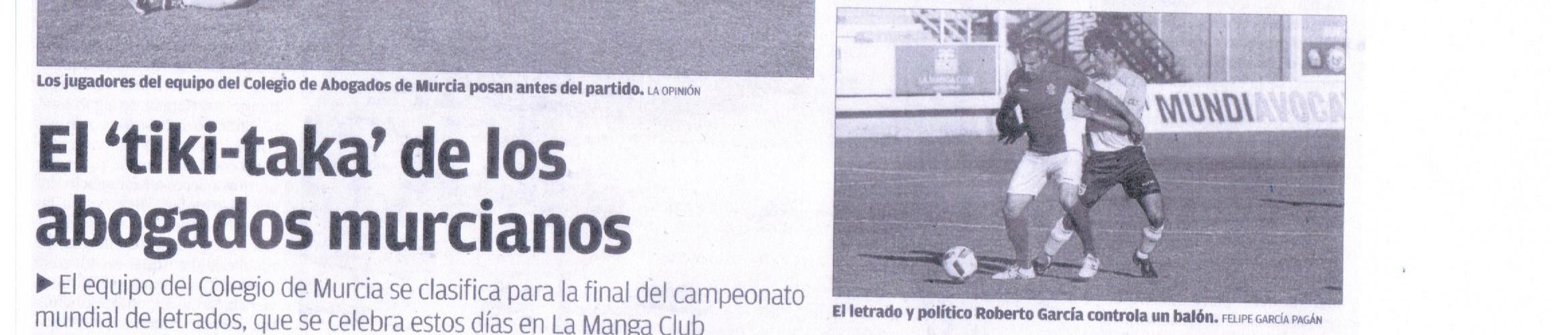 Tarso Fisioterapia, Colegio Abogados Murcia, Ganadores Mundial Fútbol